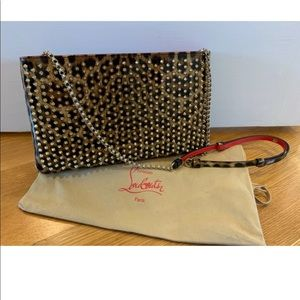 NEW Louboutin bag, clutch, patent leather, leopard